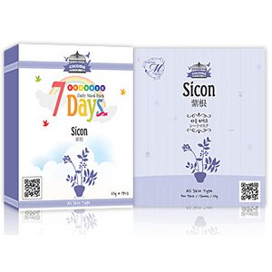 【ココマシートマスクパック】★9種類から選べる1箱★【COCOMA】【CM1-A-7】紫根 -7枚 10箱70枚