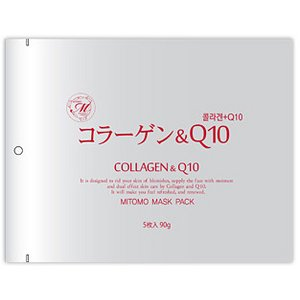 【MITOMO/美友】フェイスマスク・シートマスク5枚100セット【MT1-A-1-100】コラーゲン + Q10 5枚入100セット 500枚