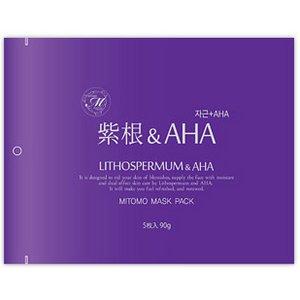 【MITOMO/美友】フェイスマスク・シートマスク5枚50セット【MT1-A-2-100】紫紺 + AHA 5枚入100セット 500枚