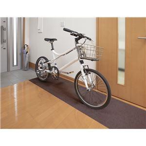サンコー おくだけ吸着 自転車置きマット BR ブラウン