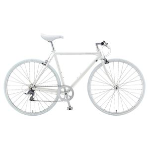 2014年モデル FUJI(フジ) STRATOS 49cm クロモリフレーム 8speed Aurora White 700c×28mm クロスバイク