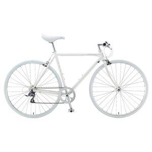 2014年モデル FUJI(フジ) STRATOS 58cm クロモリフレーム 8speed Aurora White 700c×28mm クロスバイク