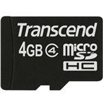 トランセンドジャパン microSDHCカード 4GB Class4 付属品(SDカード変換アダプタ付き) TS4GUSDHC4