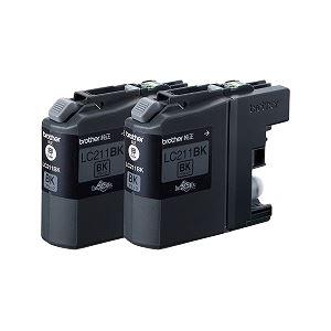 ブラザー工業 インクカートリッジ お徳用黒2個パック LC211BK-2PK