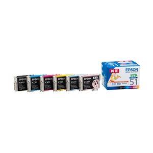 エプソン EP-703A/803A/803AW/903A/903F用インクカートリッジ/小容量タイプ(6色パック) IC6CL51