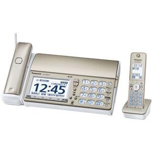 パナソニック(家電) デジタルコードレス普通紙ファクス(受話子機+子機1台付き)(シャンパンゴールド) KX-PD604DL-N