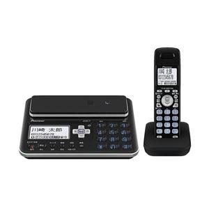 パイオニア デジタルフルコードレス留守番電話機 子機1台タイプ ブラック TF-FA70W-K