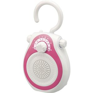 コイズミ シャワーラジオ ピンク SAD7714P