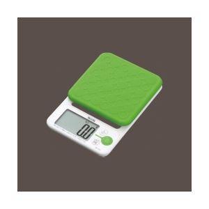 タニタ 取り外して洗えるシリコンカバー付 デジタルクッキングスケール グリーン KD-192-GR