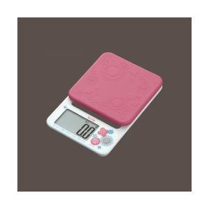 タニタ 取り外して洗えるシリコンカバー付 デジタルクッキングスケール ピンク KD-192-PK
