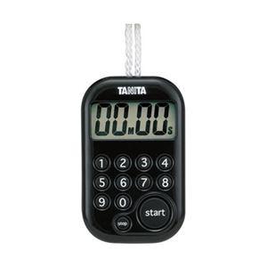 タニタ デジタルタイマー 100分計 ブラック TD379BK