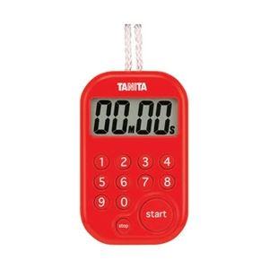 タニタ デジタルタイマー 100分計 レッド TD379RD
