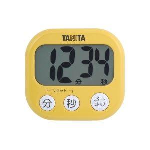 タニタ デジタルタイマー【でか見え】 マンゴーイエロー TD384MY