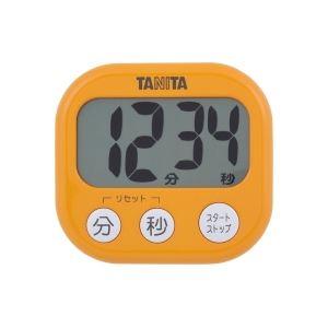 タニタ デジタルタイマー【でか見え】 アプリコットオレンジ TD384OR