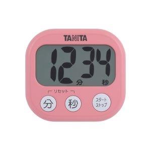 タニタ デジタルタイマー【でか見え】 フランボワーズピンク TD384PK
