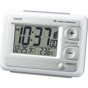 リズム時計 電波デジタル目覚まし時計 ジャストウェーブR095DN