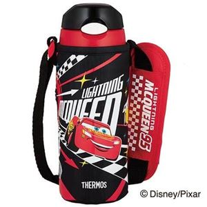 サーモス 真空断熱ストローボトル 0.4L Disney/Pixar Cars ブラックチェック