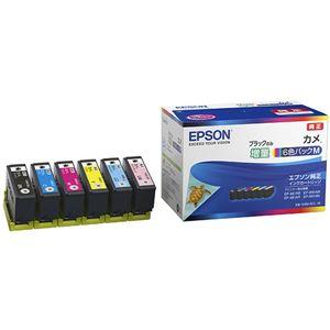 エプソン カラリオプリンター用 インクカートリッジ/カメ(6色パックM/ブラックのみ増量)