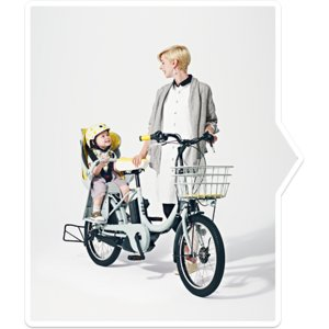 ブリヂストン 電動子供乗せ自転車 bikke e ビッケ チャイルドシート付 BK0C83 ブルーグレー