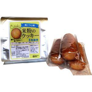 (まとめ買い)エコ・ライス新潟 3年保存 米粉のクッキー 塩こうじ味 15枚×3パック×8セット