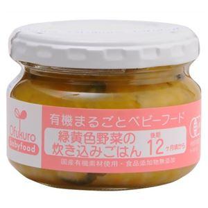 (まとめ買い)有機まるごとベビーフード 緑黄色野菜の炊き込みごはん 100g 12ヶ月頃から×12セット