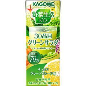 (まとめ買い)【ケース販売】カゴメ 野菜生活100 30品目グリーンサラダ 200ml×24本×2セット