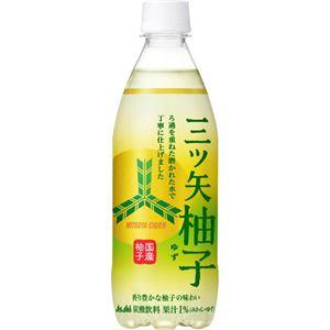 (まとめ買い)【ケース販売】三ツ矢サイダー 柚子 500ml×24本×2セット