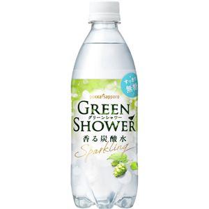 (まとめ買い)【ケース販売】グリーンシャワー 香る炭酸水 500ml×24本×2セット