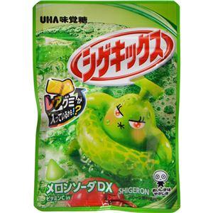 (まとめ買い)【ケース販売】UHA味覚糖 シゲキックス メロンソーダDX 20g×10個×12セット