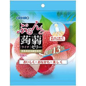 (まとめ買い)オリヒロ ぷるんと蒟蒻ゼリー ライチ 20g×6個×21セット