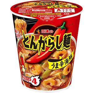 (まとめ買い)【ケース販売】日清のとんがらし麺 うま辛海鮮 63g×12個×10セット