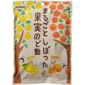 (まとめ買い)【ケース販売】カンロ まるごとしぼった果実のど飴 70g×6袋×6セット