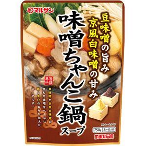 (まとめ買い)マルサン 味噌ちゃんこ鍋スープ 750g×12セット
