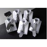 モノトーンタイトフィットワイシャツ&ネクタイ10点セット【Mサイズ】