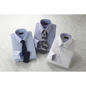 2.5ボタンADC長袖ワイシャツ&ネクタイ5点セット【レギュラー】 【Lサイズ】