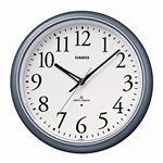 (まとめ) カシオ CASIO 電波掛時計 シルバー IQ-1050NJ-8JF 1台 【×2セット】