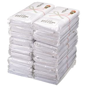 (まとめ) TANOSEE 粗品タオル ホワイト 1セット(30枚:5枚×6パック) 【×2セット】
