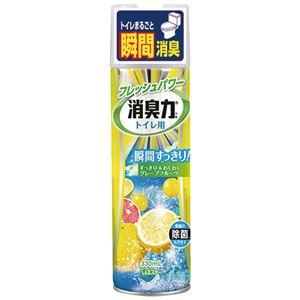 (まとめ) エステー トイレの消臭力スプレー グレープフルーツ 330ml 1セット(3本) 【×4セット】