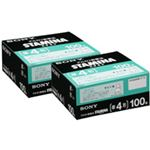 (まとめ)アルカリ乾電池「STAMINA」 単4形 100本入×2パック