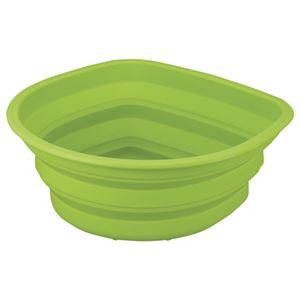 (まとめ) アスベル シリコン洗い桶 グリーン 1個 【×2セット】