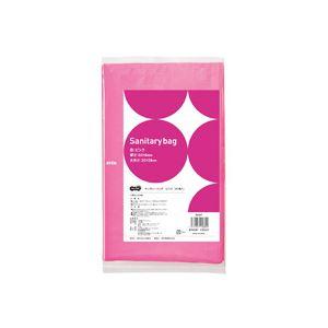 (まとめ) TANOSEE サニタリーバッグ ピンク 1パック(50枚) 【×20セット】