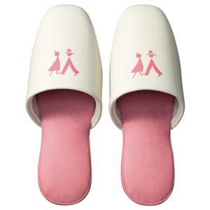 (まとめ) TANOSEE トイレ用 吊り込みスリッパ ピンク 1足 【×5セット】