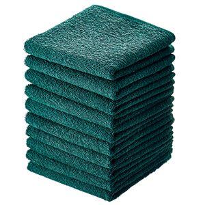 (まとめ) アイ・フィット おしぼりタオル ダークグリーン HT-DG10 1パック(10枚) 【×10セット】