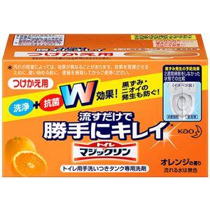 (まとめ) 花王 トイレマジックリン 流すだけで勝手にキレイ オレンジの香り つけかえ用 80g 1個 【×10セット】