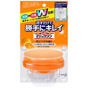 (まとめ) 花王 トイレマジックリン 流すだけで勝手にキレイ オレンジの香り 本体 80g 1個 【×5セット】