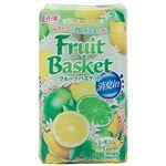 (まとめ) 丸富製紙 フルーツバスケット消臭in ダブル 芯あり 27.5m レモン&ライムの香り 1セット(96ロール:12ロール×8パック) 【×2セット】