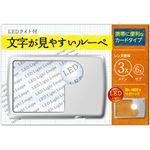 (まとめ) 日進医療器 文字が見やすいルーペカードタイプ 1個 【×5セット】