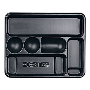 (まとめ) プラス デスクトレー M ブラック63-812 1個 【×10セット】