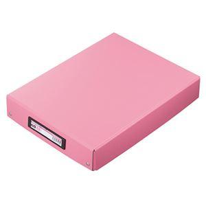 (まとめ) TANOSEE デスクトレー A4ワイド ピンク 1個 【×10セット】
