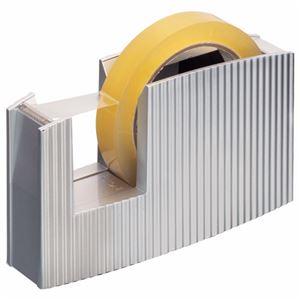 (まとめ) ライオン事務器 テープカッター(フリス)太巻用 50×175×105mm シルバー TC-20C 1台 【×5セット】